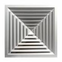 Диффузор алюм.CD-SA 370х370 (220х220)